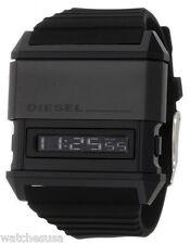 Diesel Mens Domination Black Dial Black Silicone Strap Digital Watch DZ7200