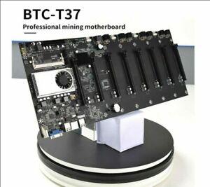 BTC-37 Miner motherboard, set of 8 video card slots, DDR3 memory, onboard VGA TA