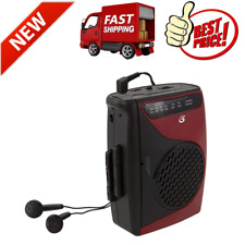Cassette Player Recorder W/Am Fm Radio Compact Size Stereo Speaker Walkman NEW