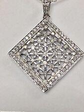 LADIES DIAMOND SQUARE PENDANT SET IN 14KT WHITE GOLD/ 1.26 CT DIAMONDS