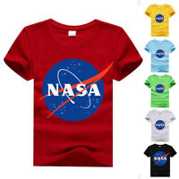 NASA T Shirt Logo Space Astronaut Geek Nerd Star Big Bang Theory Children Kids