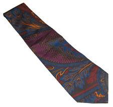 Polo Ralph Lauren Purple Label Mens Blue Orange Red Paisley Silk Tie Italy