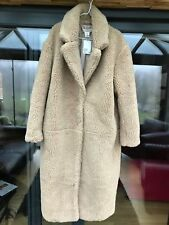Brand new H&M long pile Teddy bear coat  sz L SOLD OUT