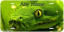 Green Tree Python Snake Any Name Car Novelty License Plate P02