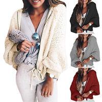 Winter Women's Warm Thicken Fleece Fur Coat Hooded Jacket Hoodie Zipper Outwear