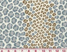 All Cotton Cheetah Print P Kaufmann Drapery Upholstery Fabric Nambia Cloud Blue