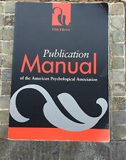 5th Ed Publication Manual of the American Psychological Association. Paperback