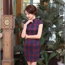 new style  Chinese women's cotton evening dressMINI Cheongsam SZ:S-xXL LGD30