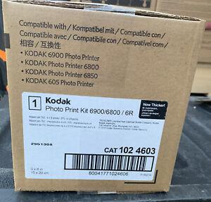 """Kodak Photo Print Kit 6900/6800/6R CAT 102 4603 - 750 4""""x6"""" OR 375 6""""x8"""" prints"""