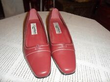 "Ladies New,  ""Walkers Comfort"" Leather, Chisel Toe, Burgundy Shoe Size UK 4"