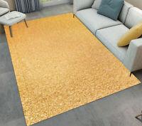 Plain Color Gold Pattern Area Rugs Kids Bedroom Carpet Living Room Floor Mat Rug