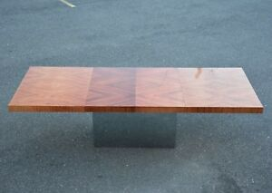 Rosewood and Chrome Dining Table by Milo Baughman for Thayer Coggin