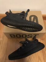 PRE-OWNED Adidas Yeezy 350 V2 Black Non-reflective FU9006 Size 10