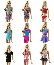 20 Items=10 PCS Lovely Fashion Bikini Swimsuit + 10 Pairs Shoes for Barbie Doll