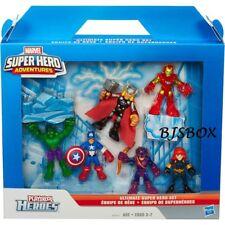 Marvel Super Hero Adventures Ultimate Super Hero Set 6 Figures PlaySkool New NIP