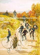 Old/Antique/Vintage 1887 Penny-Farthing/High Wheeler Bicycle/Bike Wall Art Photo