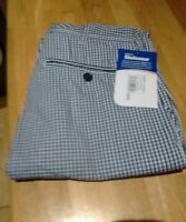 """Blue Check Chefs Trousers 28"""" Waist"""