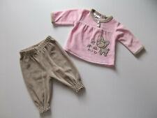 Dirkje Baby 3tlg Langarmshirt Rock Leggings Shirt Schleife Navy white 62 80 NeU