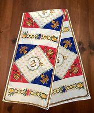 Vintage Art Nouveau Rectangular Silk Scarf, 'Sna, Honneur, Patrie', Made in Usa