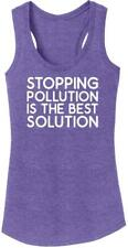 Ladies Stop Pollution Best Solution Tri-Blend Tank Top Climate Change Global