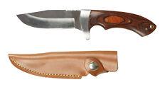 MIL-TEC Hunting Knife con impugnatura in legno 23cm COLTELLO Drop-Point-LAMA COLTELLO DA CACCIA