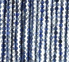 "4MM BERMUDAN BLUE IOLITE GEMSTONE GRADE AAA ROUND LOOSE BEADS 15.5"""