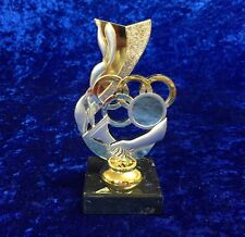 Olympic Rings Torch Flame Trophy Award Gold Silver Competition FREE engraving