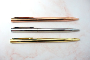 Beautiful New Slim Pen Silver, Gold or Rose Gold Novelty Gift
