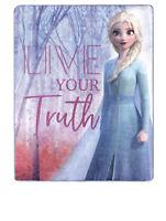 Disney Silky Soft Throw Frozen II Elsa Anna Live your Truth Blanket