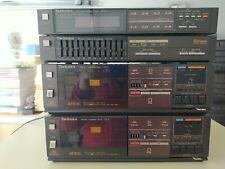 Technics Stereoanlage ,2x Cassette Deck RS-6, FM/AM Tuner ST-8, Equalizer SH-E4!