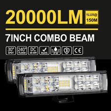 2PCS 7INCH 816W LED WORK LIGHT BAR SPOT OFFROAD ATV FOG TRUCK LAMP 4WD UTE 12V
