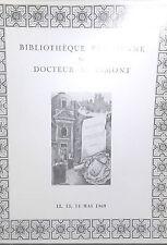 1969 Catalogue de Vente Drouot BIBLIOTHEQUE PARISIENNE Dr M.VIMONT