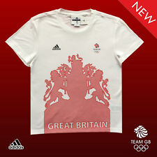 ADIDAS STELLA McCARTNEY TEAM GB ELITE LADY ATHLETE VILLAGE T-SHIRT Size 40-42