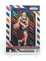 2018-19 Prizm Anfernee Simons RC, Red White & Blue Rookie Refractor, Blazers #61