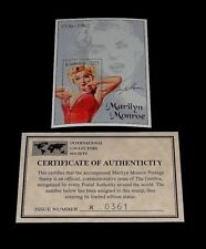 1995, GAMBIA, MARILYN MONROE, LIMITED EDITION, D25 SOUVENIR SHEET, W/COA