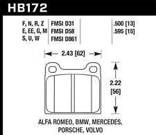 Disc Brake Pad Set-Base Rear,Front Hawk Perf HB172S.595