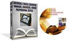 E-book pro Software de edición de Convertidor Visor Manager organizador PC y Mac Cd-rom