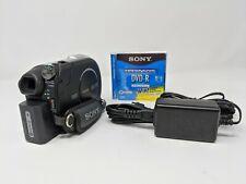 New ListingSony Handycam Dcr-Dvd308 Dvd Digital Camcorder 25x Optical Zoom Touch Screen