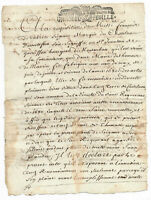 1710 KING LOUIS XIV Marquis signed JUSTICE application manuscript document