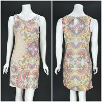 Womens Desigual Lagrima Paisley Print Dress Sleeveless Bodycon Size M