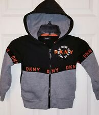 8e1561a3 DKNY Childrens Designer Hoodie Kids Size 4 Black GREAT!