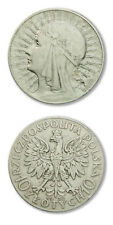Poland Queen Jadwiga Silver Crown 10 Zlotych 1932 Warsaw Mint Cleaned