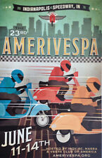 SCENIC EUROPE STREET POSTER 24x36 ASSAF TRAVEL 34199 SCOOTER