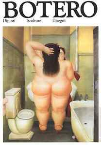 LATIN ART PRINT - THE BATH by Fernando BOTERO Offset Lithograph Bathroom Poster