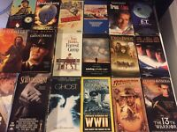 Lot 18 Classic VHS Movies All Decades See Pics For Titles E.T. Forrest Gump WW2