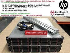 HP D2700 15TB SAS Dual Controller Direct Attached Storage (DAS) Configuration