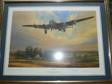 More details for framed anthony saunders king of the air lancaster print