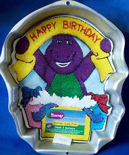 WILTON BARNEY WITH BIRTHDAY BANNER CAKE PAN OR CAKE TIN - EUC