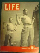 LIFE Jan 11, 1937   P Robeson, S Henie, M Sanger, Japan 1937 military, W Homer