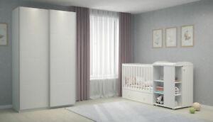 Kinderzimmer-Set: Kombi-Kinderbett mit Kommode und Schrank